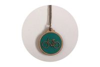 Timber & Fabric Pendant, Green fabric and Bicycle detail  #Kosbaar