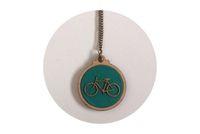 Timber & Fabric Pendant, Green fabric and Bicycle detail  #Kosbaar