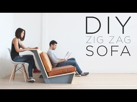 Make This DIY Modern Couch That Also Doubles As A Desk | CONTEMPORIST
