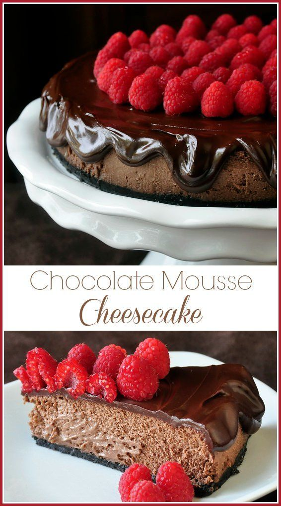 Need an alternative Holiday dessert? This chocolate mousse cheesecake recipe has to be the lightest, creamiest, most lusciously chocolaty cheesecake recipe. Just outstanding!