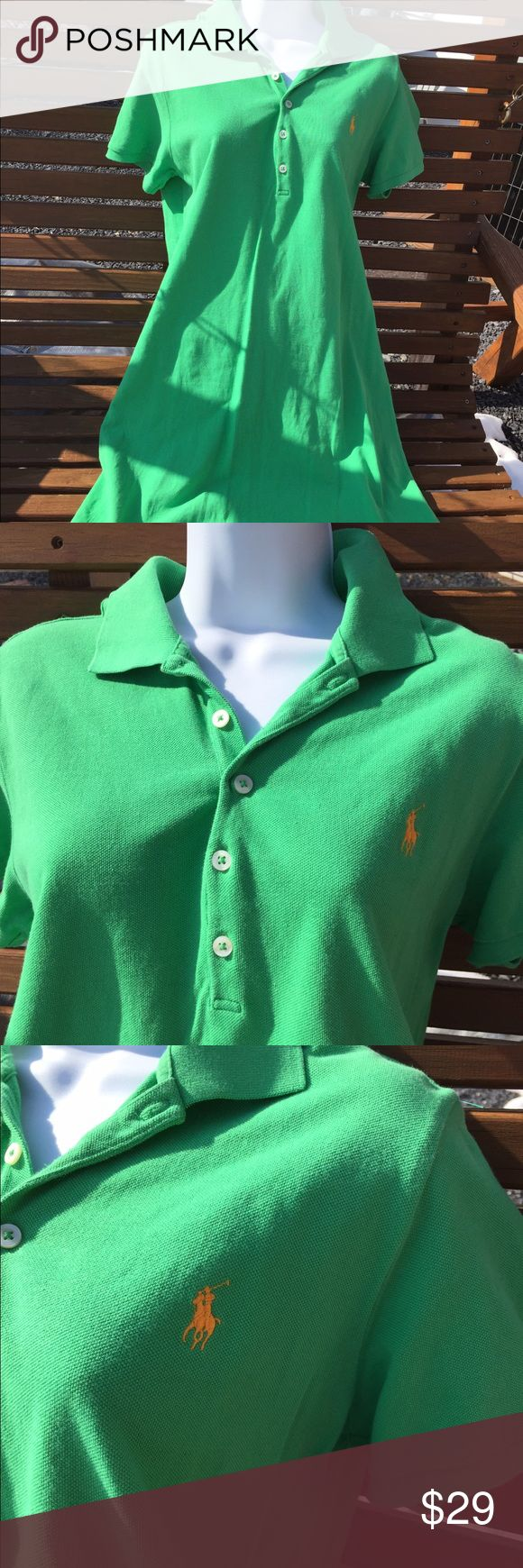 """Ralph Lauren Sport Polo Shirt Dress Classic Size L Size large. 100% cotton. Measures flat: shoulder to shoulder: 16"""". Pit to pit: 19"""". Bottom of the collar in the back to the bottom of Dress: 36"""". Be sure to view the other items in our closet. We offer both women's and Mens items in a variety of sizes. Bundle and save!! Thank you for viewing our item!! Ralph Lauren Sport Dresses"""