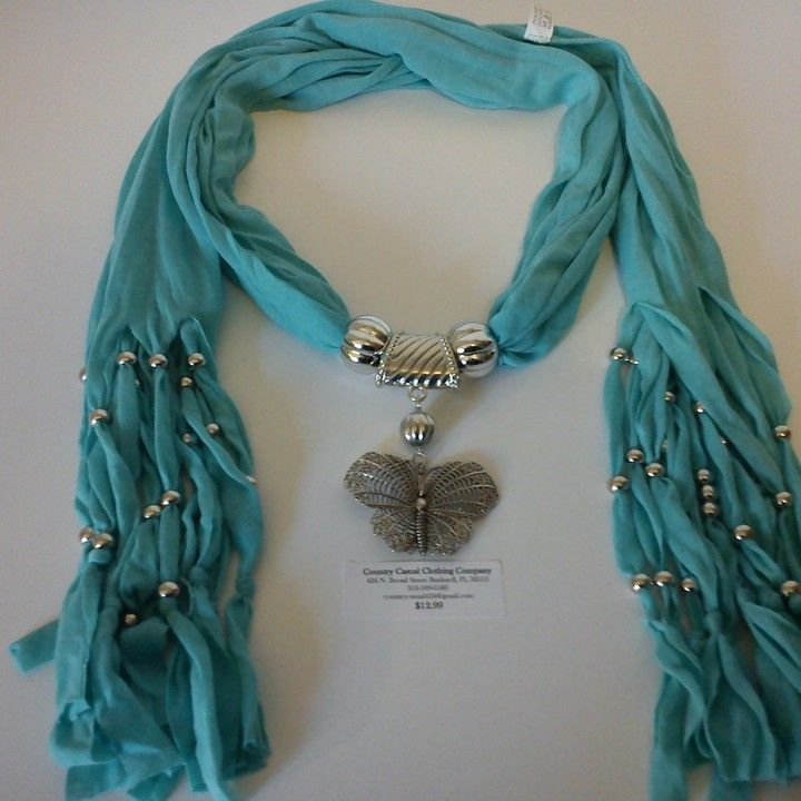 Light Blue Butterfly Scarf from Country Casual Clothing Company for $12.99 on Square Market