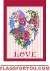 Love Wreath House Flag