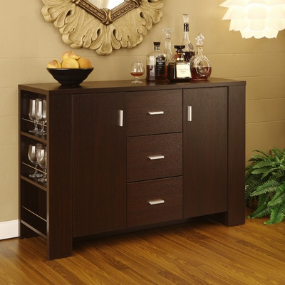 High Quality Clayton Cappuccino Finish Dining Buffet May Be Perfect For The Make Up Bar  In My Studio!
