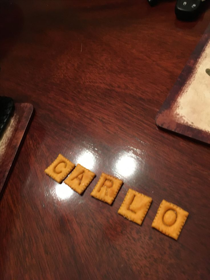I made my name out of cheese its
