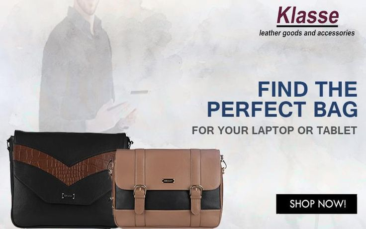 Find the Perfect & Stylish Bag for your #Laptop & #Tablet at www.klasseleather.in. Shop Now! #Mens #LaptopBags