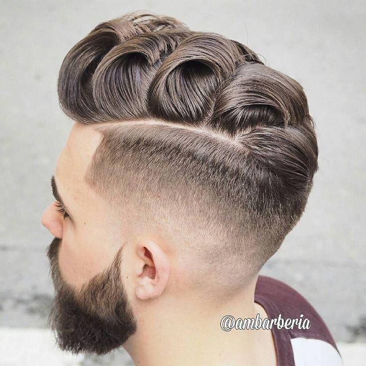 Cool ideas for medium length men's hair ^_^  Haircut by ambarberia http://ift.tt/1Nc91wr