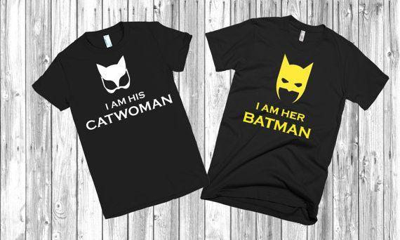 batman and catwoman t shirt
