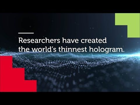 KhabarSpecial.com (Online News Channel): Scientists Create World's Thinnest Hologram Which ...