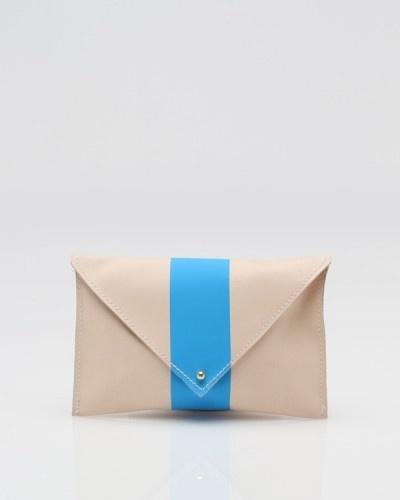 La Grande Pochette In Blue, Clare Vivier