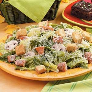 Chicken Nugget Caesar Salad Recipe- I added more dressing than called for.