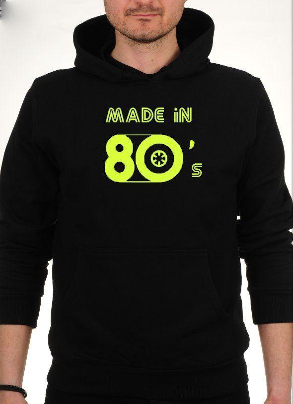 made in 80's Sweatshirt Kapşonlu.Kaliteli Kumaşa Kaliteli baskı uygulanmıştır. S M L XL 59.90TL. #seksenler #80ler #tişört #80kuşağı #1980's #headprinting #thebronx  #eskişehir #moda #seksenlermodası #80lerresim