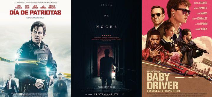 Día de Patriotas, Llega de noche o Baby Driver - Estrenos destacados en la cartelera de Cine en España