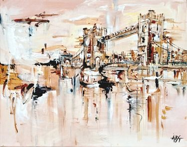 "Saatchi Art Artist Anna Gammans; Painting, ""SOLD: London in Focus III"" #art"