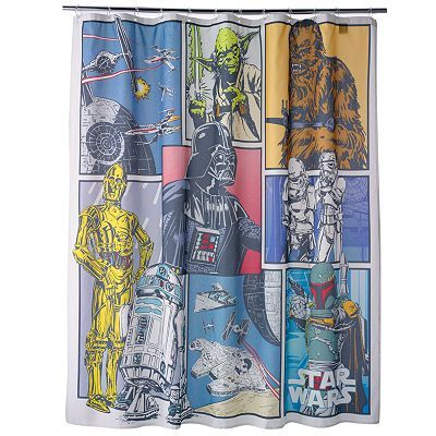 Star Wars Fabric Shower Curtain