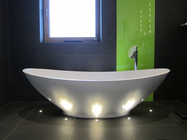 feature lighting ideas. mini ground lights feature this free standing master bath whilst providing relaxing background and night lighting ideas