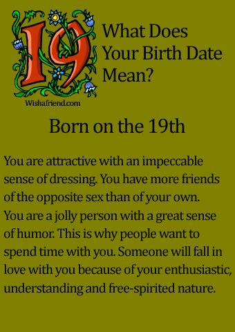 What Does Your Birth Date Mean?- Born on the 19th