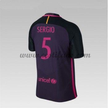 Barcelona Fotbalové Dresy 2016-17 Sergio 5 Venkovní Dres