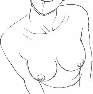 Как рисовать мангу — Женская грудь - форма груди - размер груди - большая грудь - рисование груди