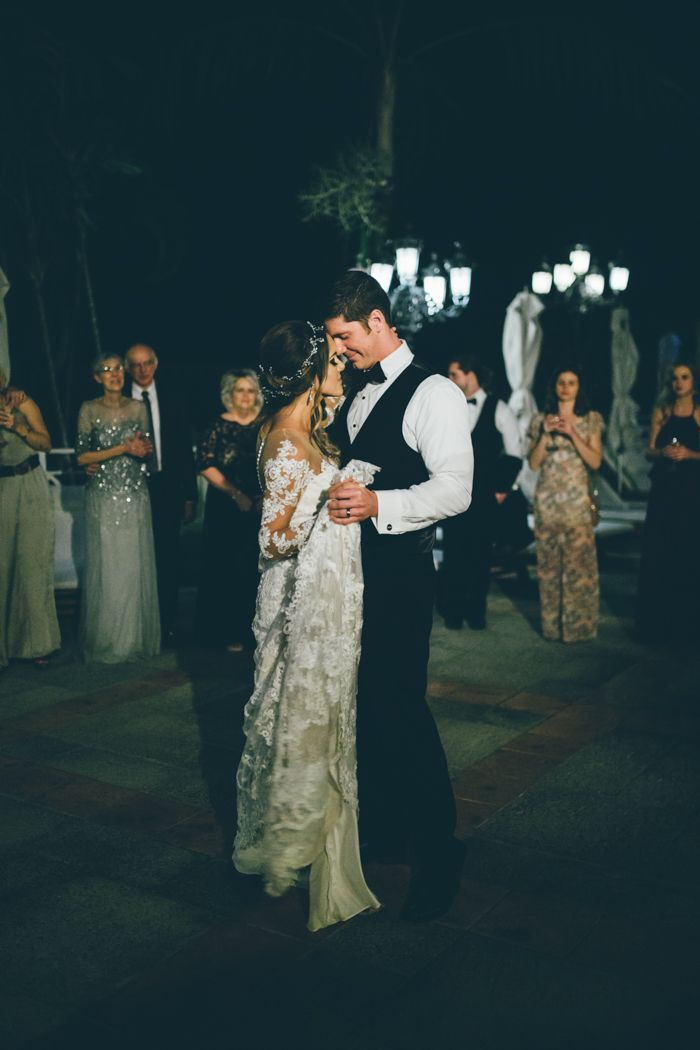 Lovely first dance moment   Image by Amber Phinisee