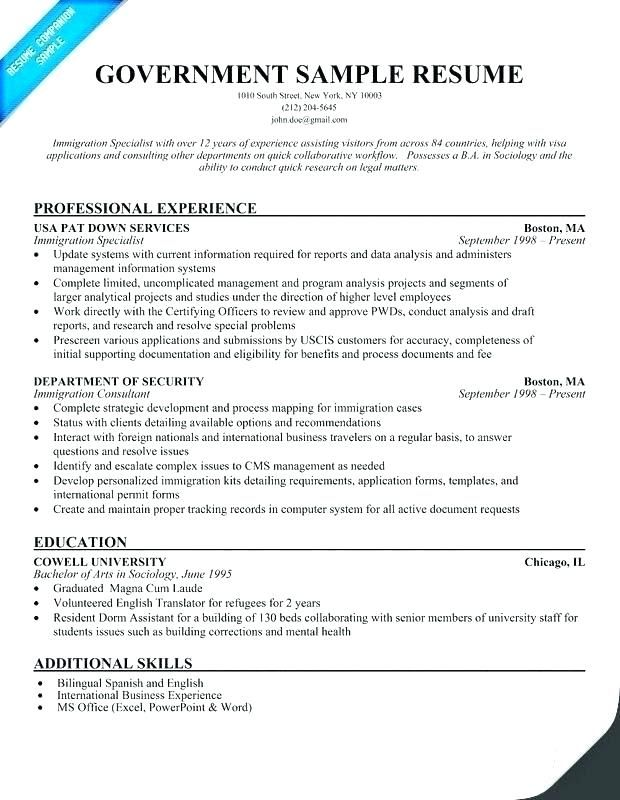 Usa Jobs Resume Examples Pinterest Resume Templates Resume
