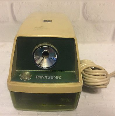 Vintage Green Panasonic Point-O-Matic KP-8A Electric Pencil Sharpener WORKS