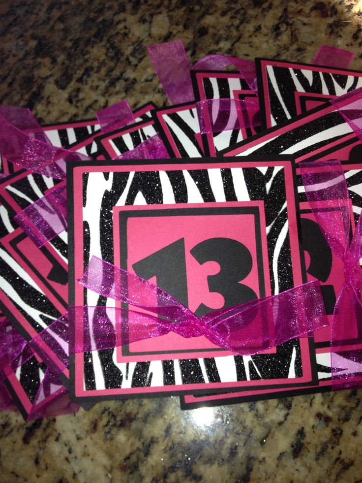 16 best 13Th Birthday Party Invitation images on Pinterest ...