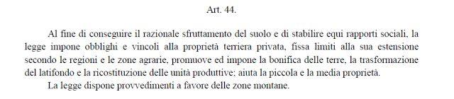 CAPITAN FUTURO: ARTICOLO 44 DELLA COSTITUZIONE