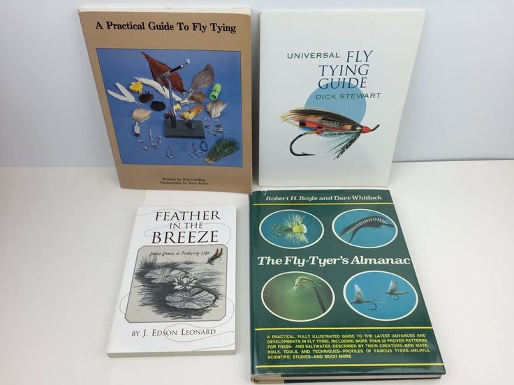 Lot Of Fly Fishing Tying Books Practical Guide Almanac Feather In Breeze