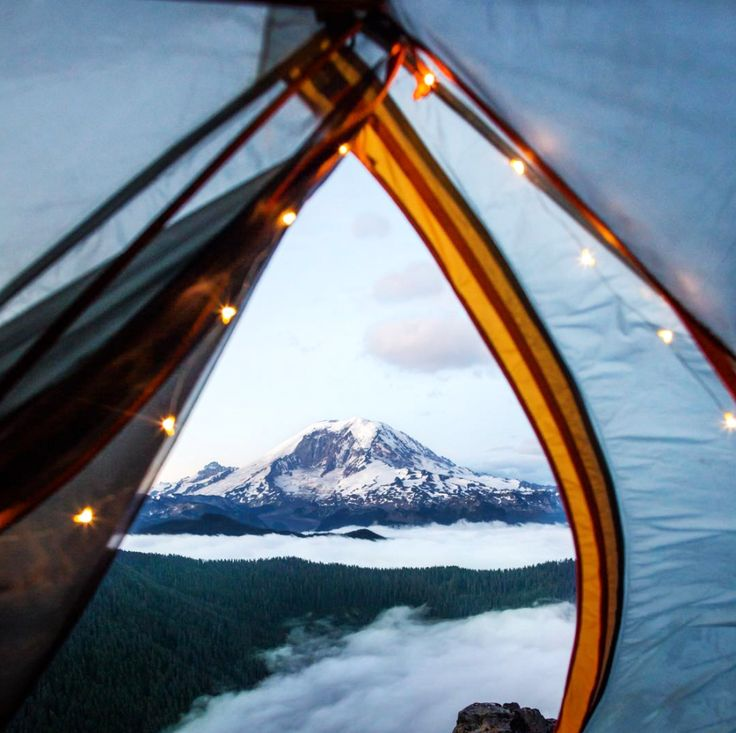 Or this twilight view of Mt. Rainier from the comfort of a tent?   17 Sublime Camping Views Guaranteed To Excite Your Wanderlust
