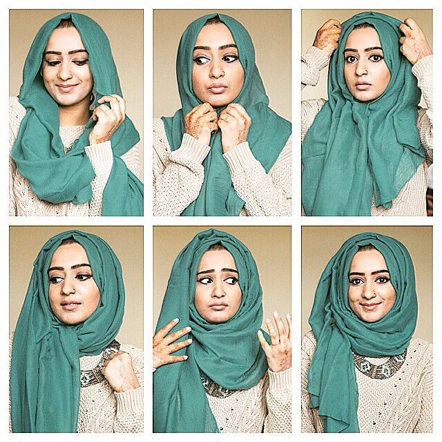 """The style I use most often, very simple!  This hijab style is great if you like 'volume' / if you like to wear necklaces ✨  1. Start off by placing it on…"""