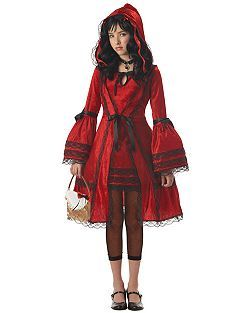 Tween Little Red Riding Hood Costume | Cheap Tween Halloween Costume for Girls Costumes