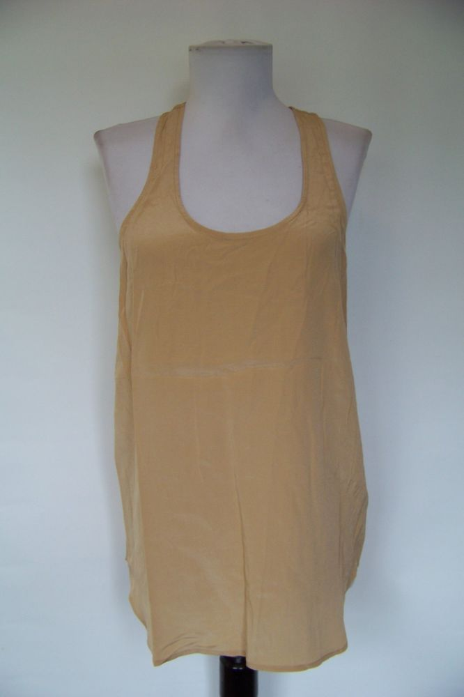 d021ea85c71ef 4403 NWT ACROBAT TAN 100% SILK RACER BACK TANK TOP S  fashion  clothing   shoes  accessories  womensclothing  tops (ebay link)