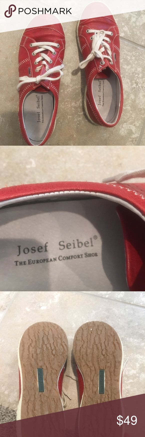 Josef Seibel shoes European leather comfort shoes. Made in Bulgaria. Worn twice. From the spoke and pet free home. Very good condition. Josef Seibel Shoes Flats & Loafers