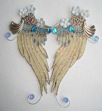 OOAK Fairy Pixie Bear Translucent Art Doll Angel Wings