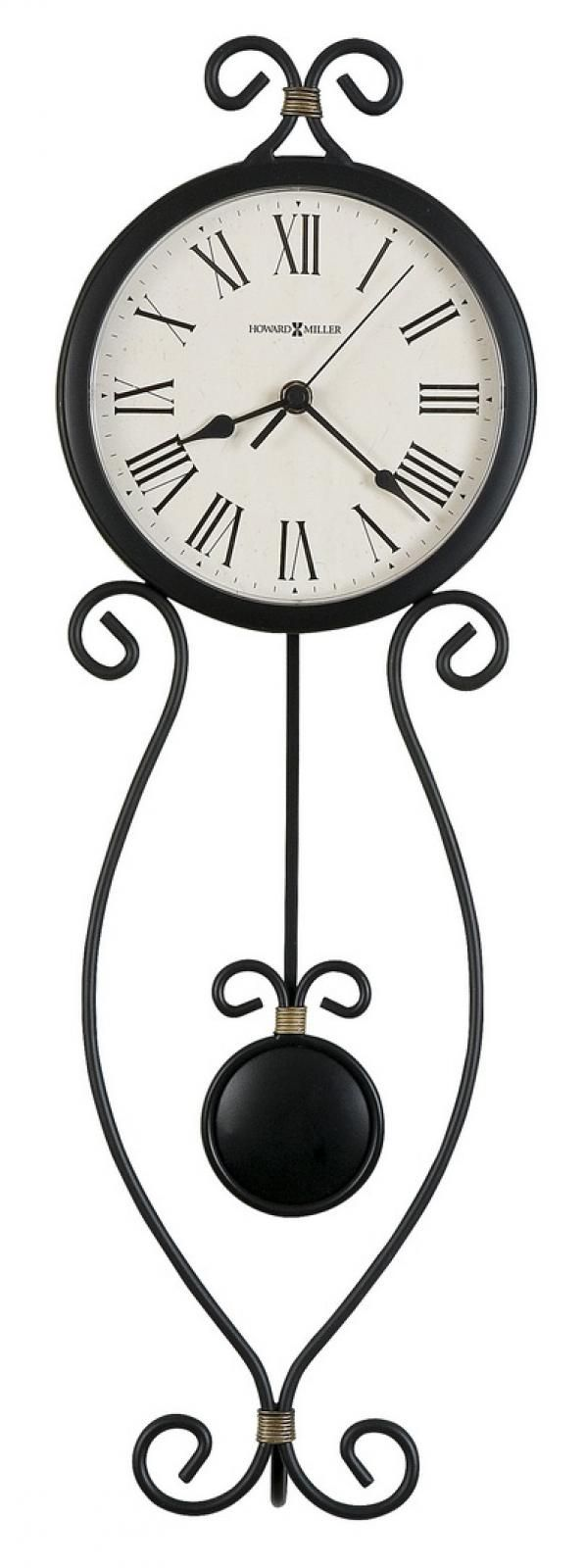 Found it at Clockway.com - Howard Miller Wrought-Iron Pendulum Wall Clock - CHM2496