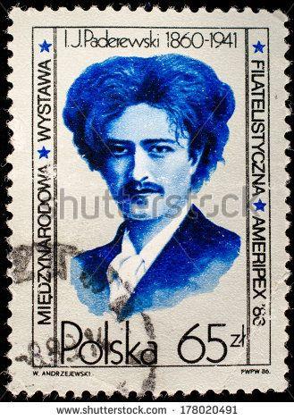Znalezione obrazy dla zapytania US Stamp - Champions of Liberty Ignacy Jan Paderewski Polish Statesman Artist 1860-1941