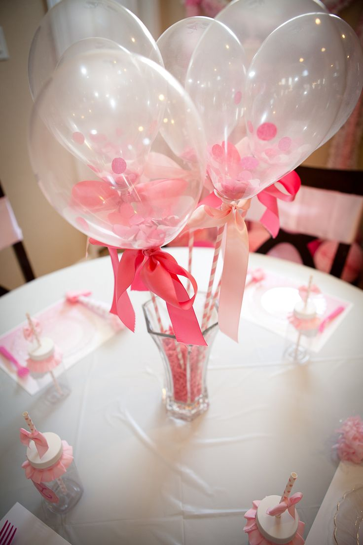 Mini clear balloons filled with confetti