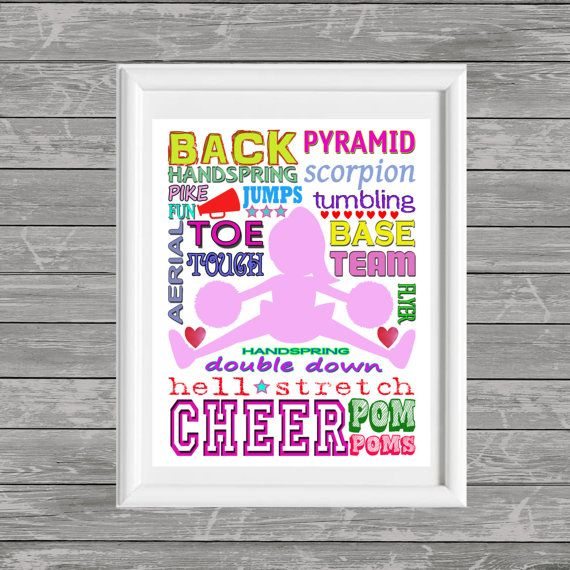 Cheerleader Printable Wall art Cheerleader Poster