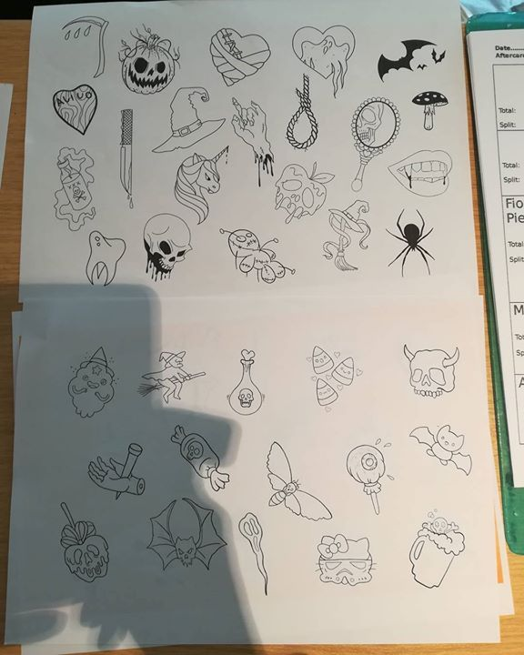 All the tattoo designs for our #halloween #halloweentattoos promotion 20 each. Until 10pm. http://ift.tt/2z5C0oi