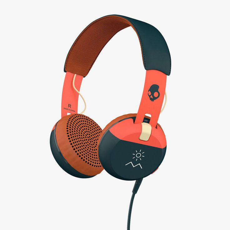 Skullcandy Headphones Ill-Famed Collection Over-Ear with Mic/Tap Tech Orange #Skullcandy