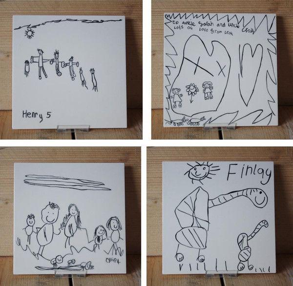 9 best Personalised Ceramic Tiles - Your Childu0027s Drawing Handpainted - copy blueprint lite app