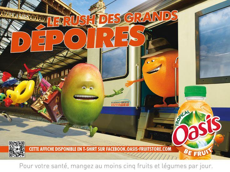 Oasis part en campagne avec des annonces qui devraient se faire remarquer dans les prochains jours. Cette campagne d'affichage intitulée « Mangue in France » s'adresse à l'ensemble des français en respectant les différentes régions françaises - Agence Marcel