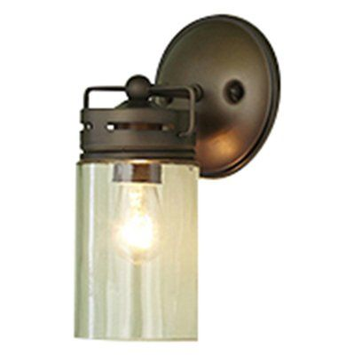 allen + roth Vallymede 5-in W 1-Light Aged Bronze Hardwired Wall Sconce
