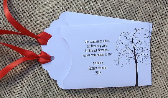 Custom Lottery Ticket Envelopes for Family Reunion, Family Reunion Ideas, by abbey and izzie designs