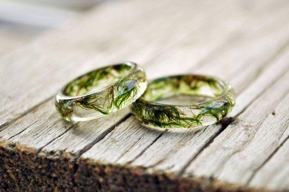 ringen van aard, natuur geïnspireerd ringen, hars ring bloem, hars ring, eco…