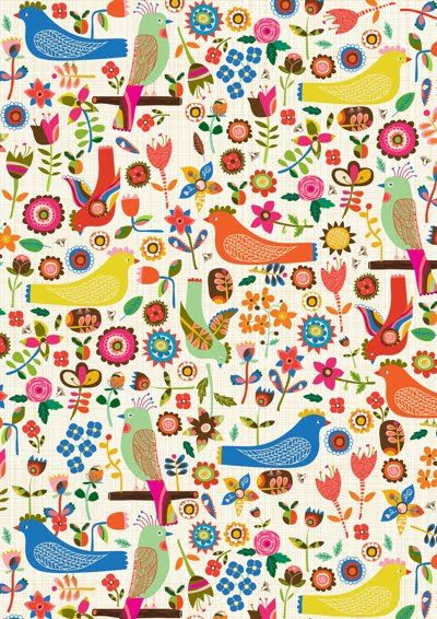 birds & flowers: 23 Pattern Birds, Inspiration, Swedishbirdtest Wrap, Illustration, Wallpaper, Swedish Birds, Print Patterns