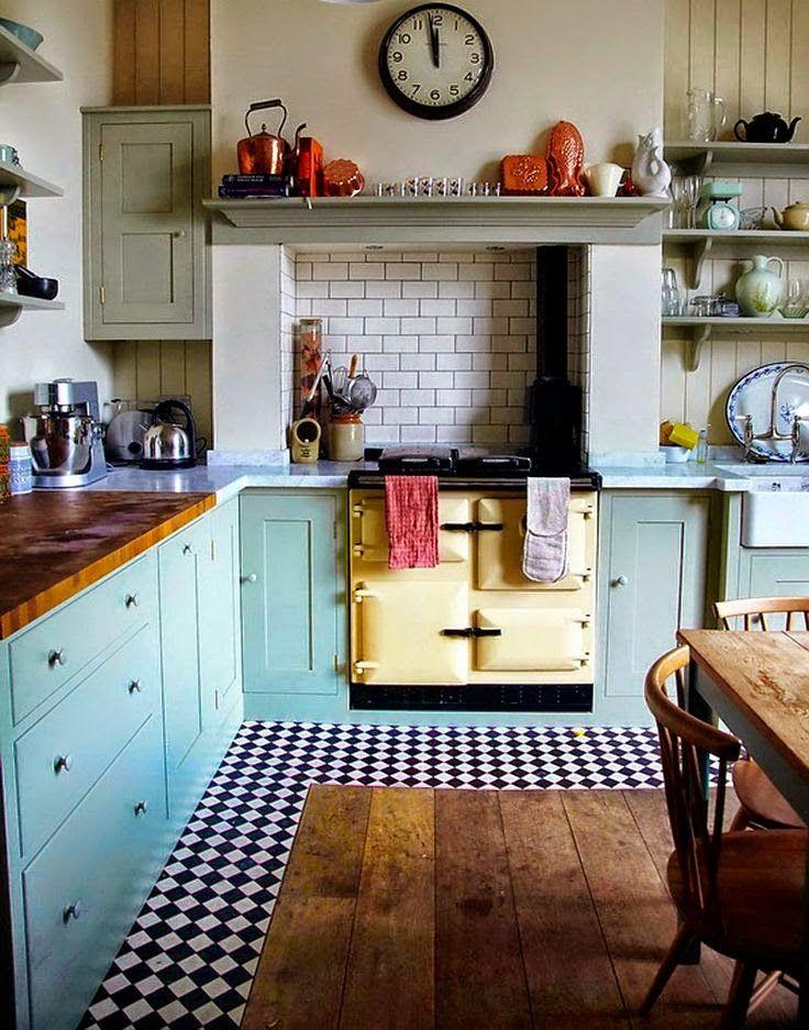El Rincón Vintage de Karmela: Una tendencia top: combinar suelos de madera con loseta hidráulica.