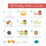 10 Quick & Healthy Bedtime Snacks - an hour before bedtime and good for lulling you or little one to sleep if still a little hungry an hour before bed.