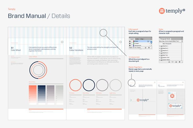 Brand Manual Template by temply on Creative Market Graphic - manual templates